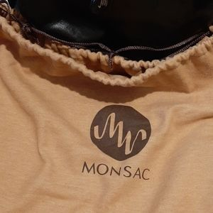 Monsac handbag comes with dust bag.